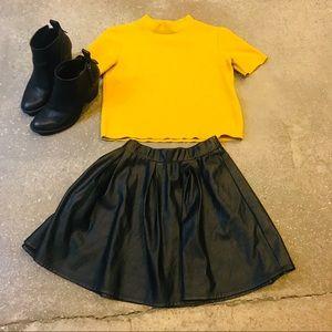 Zara Top mustard yellow color